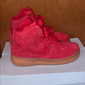 High top suede air force 1